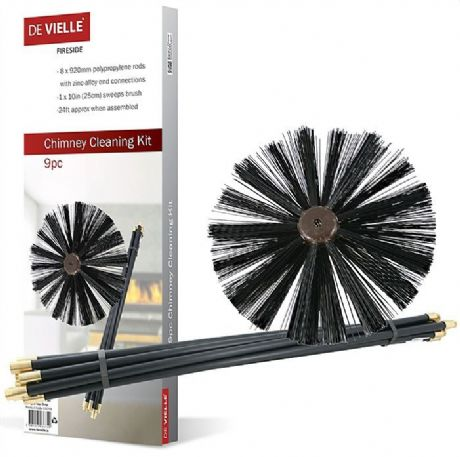 Chimney Cleaning Brush/Rods Sweep Rod Sweeping Stove Woodburner Pipe Flue Fire